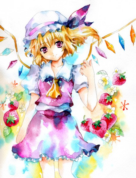 Tags: Anime, Fragran0live, Touhou, Flandre Scarlet, Watercolor, Traditional Media