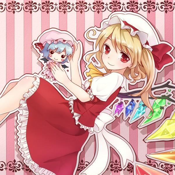 Tags: Anime, Shironeko Yuuki, Touhou, Flandre Scarlet, Remilia Scarlet, Fanart From Pixiv, Fanart, Pixiv