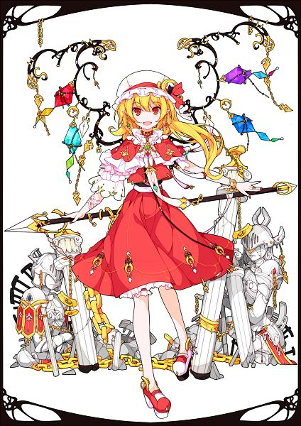 Tags: Anime, Ideolo, NEKO WORKi, Touhou, Flandre Scarlet, Laevatein, Column, Fanart From Pixiv, Fanart, Fancy Winged Flandre, Mobile Wallpaper, PNG Conversion, Pixiv