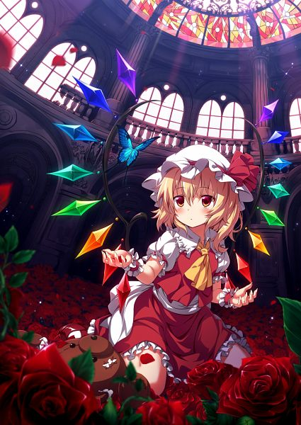 Tags: Anime, UGUME, Touhou, Flandre Scarlet, Stained Glass, Mansion, Fanart From Pixiv, Fanart, Pixiv