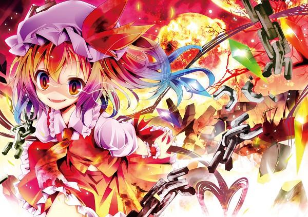 Tags: Anime, Kamiya Yuu, Touhou, Flandre Scarlet, Laevatein, Red Moon, Fanart From Pixiv, Nico Nico Douga, Fanart, Pixiv