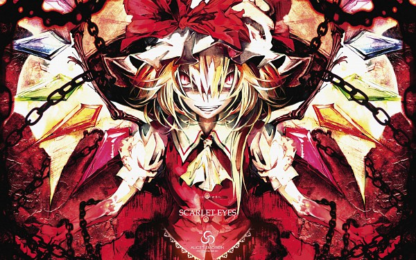 Tags: Anime, Banpai Akira, ALiCE'S EMOTiON, Touhou, Flandre Scarlet, Fancy Winged Flandre, Pixiv, SCARLET EYES, Wallpaper