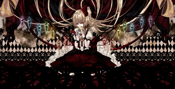 Tags: Anime, Memai, Touhou, Remilia Scarlet, Flandre Scarlet, Stained Glass, Peaceful, Facebook Cover