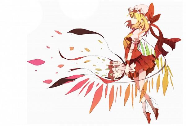 Tags: Anime, Fujisaki Miyabi, Touhou, Flandre Scarlet, Fanart, Fancy Winged Flandre, Pixiv