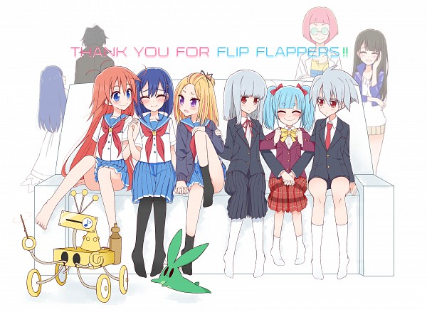 Tags: Anime, Pixiv Id 1189617, Flip Flappers, Toto (Flip Flappers), Yukusukyuru (Flip Flappers), Yuyu (Flip Flappers), Hidaka (Flip Flappers), Yayaka (Flip Flappers), Sayuri (Flip Flappers), Cocona (Flip Flappers), Mimi (Flip Flappers), Soruto (Flip Flappers), Papika (Flip Flappers)
