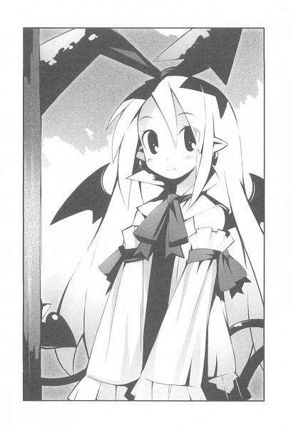 Tags: Anime, Yamamoto Keiji, Nippon Ichi Software, Makai Senki Disgaea, Flonne, Official Art, Novel Illustration, Scan