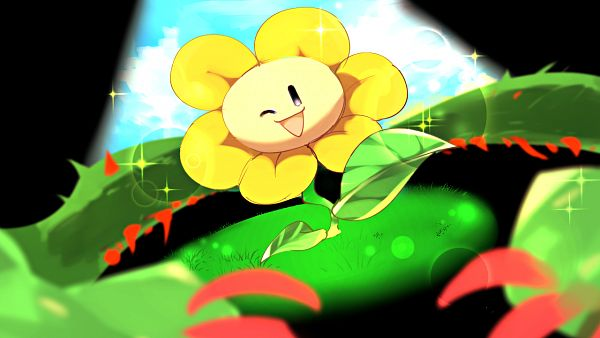 Tags: Anime, Undertale, Flowey, Fanart From Pixiv, Pixiv, Fanart