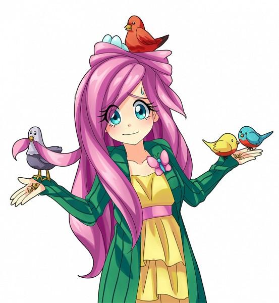 Tags: Anime, Semehammer, My Little Pony, Fluttershy, Shrug, Fanart From DeviantART, Fanart, deviantART