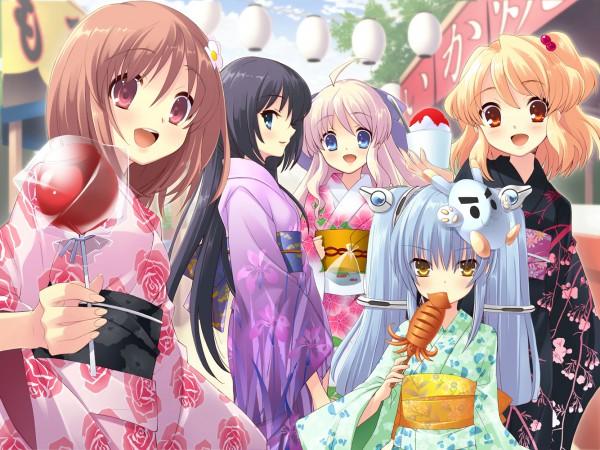 Tags: Anime, Ito Noizi, Flyable Heart, Sumeragi Amane, Kujou Kururi, Inaba Yui, Shirasagi Mayuri, Sakurako Minase, Candy Apple