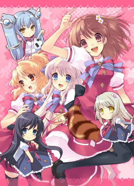 Tags: Anime, Ito Noizi, Flyable Heart, Sakurako Minase, Sumeragi Amane, Kujou Kururi, Shirasagi Mayuri, Inaba Yui, Yukishiro Suzuno