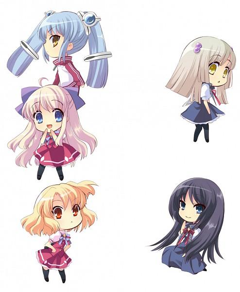 Tags: Anime, Ito Noizi, Flyable Heart, Sumeragi Amane, Kujou Kururi, Shirasagi Mayuri, Yukishiro Suzuno, Sakurako Minase