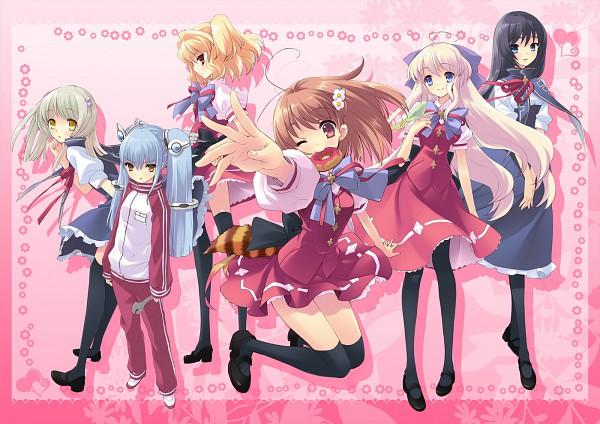 Tags: Anime, Ito Noizi, UNiSONSHIFT, Flyable Heart, Sakurako Minase, Kujou Kururi, Sumeragi Amane, Shirasagi Mayuri, Inaba Yui, Yukishiro Suzuno, Official Art
