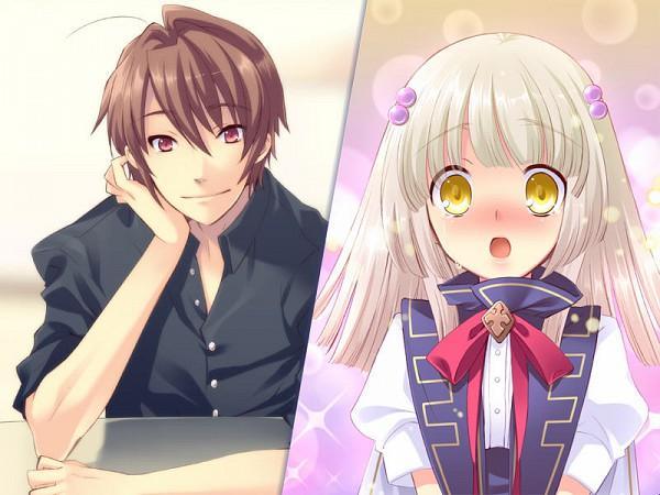 Tags: Anime, Ito Noizi, UNiSONSHIFT, Flyable Heart, Katsuragi Shou, Yukishiro Suzuno, Confession, CG Art