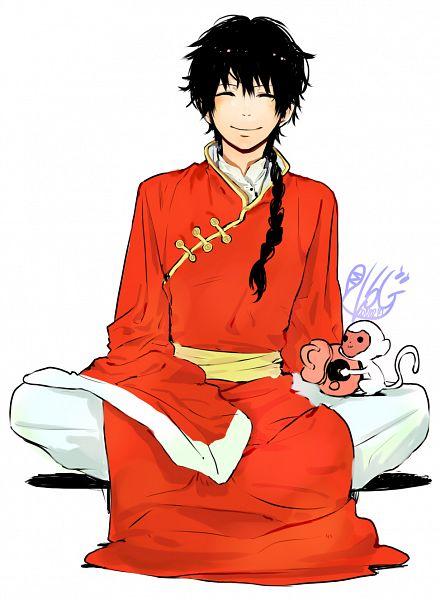 Tags: Anime, MyoKi, Katekyo Hitman REBORN!, Fon, Lichi, Monkey, Fanart, Pixiv
