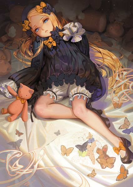 Tags: Anime, Alphonse, Fate/Grand Order, Foreigner (Abigail Williams), Orange Bow, Spotted Bow, Fanart From Pixiv, Pixiv, Fanart