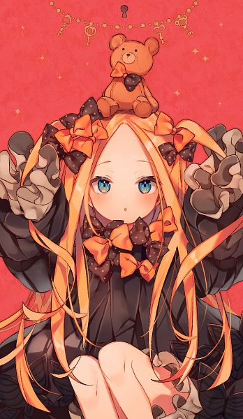 Tags: Anime, Ana (Rznuscrf), Fate/Grand Order, Foreigner (Abigail Williams), Orange Bow, Spotted Bow, Fanart From Pixiv, Pixiv, Fanart