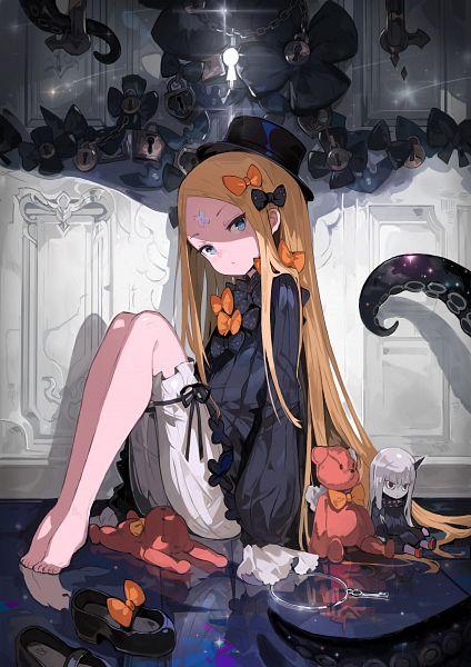 Tags: Anime, Alchemaniac, Fate/Grand Order, Lavinia Whateley, Foreigner (Abigail Williams), Orange Bow, Keyhole, Footwear Off, Fanart From Pixiv, Pixiv, Fanart