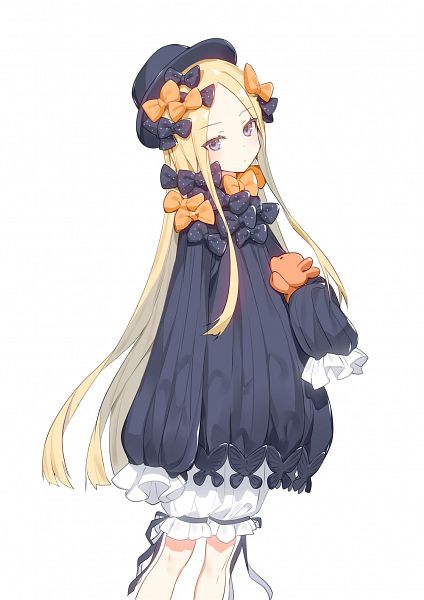 Tags: Anime, RONOPU, Fate/Grand Order, Foreigner (Abigail Williams), Puffy Shorts, Orange Bow, Spotted Bow, Fanart From Pixiv, Pixiv, Fanart