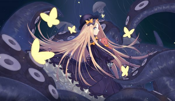Tags: Anime, Pixiv Id 3834224, Fate/Grand Order, Foreigner (Abigail Williams), Jellyfish, Hugging Toy, Fanart, Fanart From Pixiv, Pixiv
