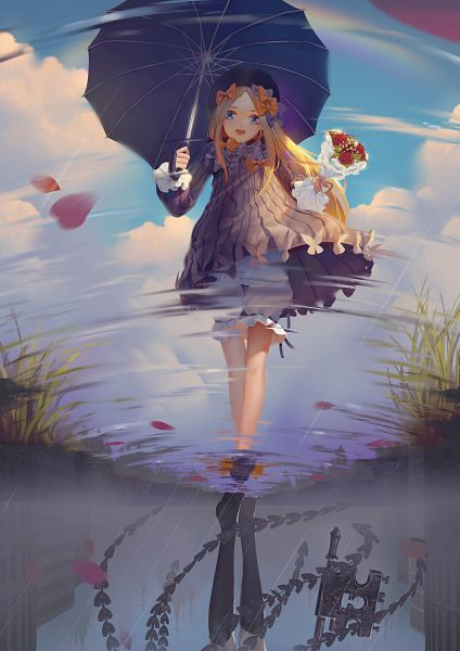Tags: Anime, Pixiv Id 14109822, Fate/Grand Order, Foreigner (Abigail Williams), Puddle, Fanart From Pixiv, Pixiv, Fanart