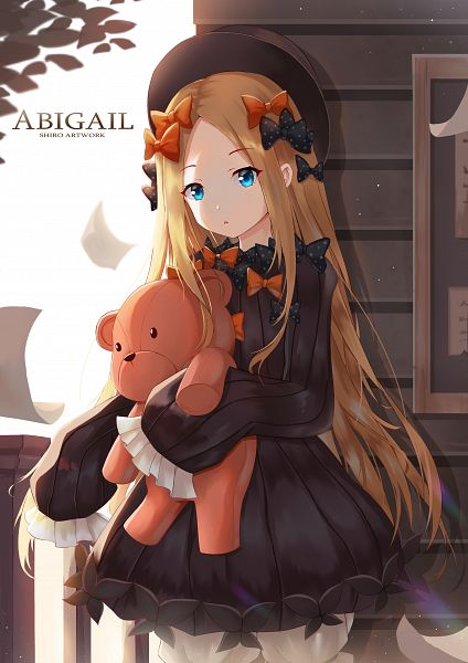Tags: Anime, Pixiv Id 15309288, Fate/Grand Order, Foreigner (Abigail Williams), Flying Paper, Orange Bow, Spotted Bow, Fanart, Fanart From Pixiv, Revision, Pixiv