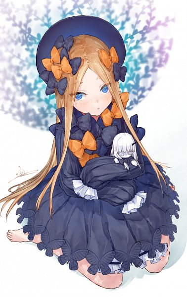 Tags: Anime, Pixiv Id 14400155, Fate/Grand Order, Lavinia Whateley, Foreigner (Abigail Williams), Orange Bow, Fanart, Fanart From Pixiv, Pixiv, Mobile Wallpaper