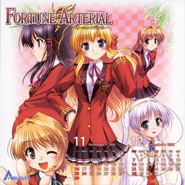 Tags: Anime, Bekkankou, August (Studio), Fortune Arterial, Yuuki Haruna, Tougi Shiro, Sendou Erika, Yuuki Kanade, Kuze Kiriha