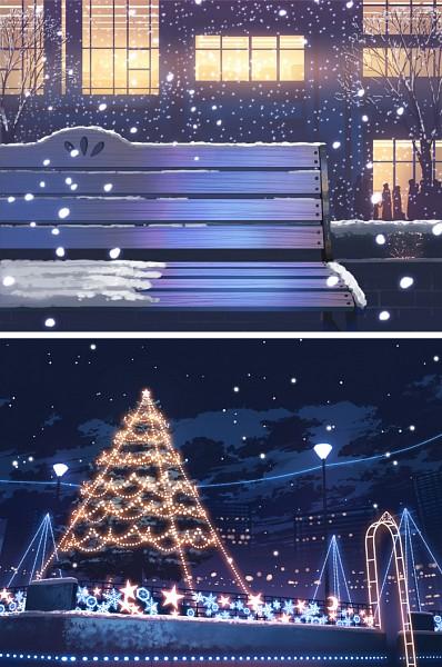 Tags: Anime, Fo~Do, Crowd, Christmas Ornament, Pixiv, Mobile Wallpaper, Original