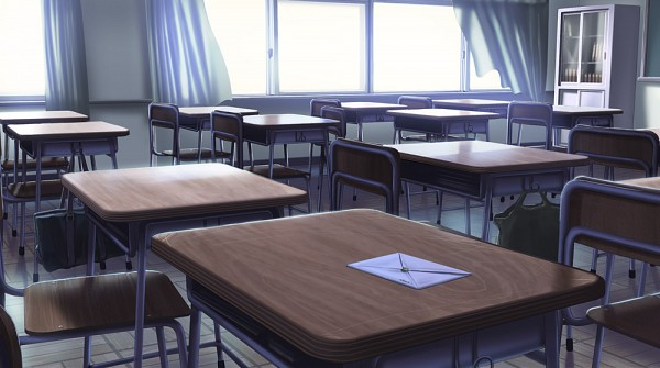Tags: Anime, Fo~Do, No Character, School Desk, Facebook Cover, Original, Pixiv