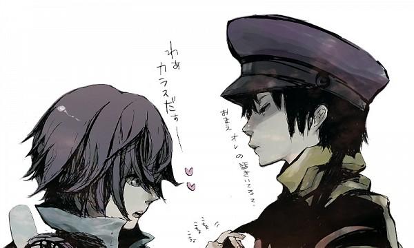 Tags: Anime, Namco, Fragile: Sayonara Tsuki no Haikyo, Crow (Fragile), Seto (Fragile), Uncertain, Sketch