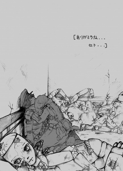 Tags: Anime, Namco, Fragile: Sayonara Tsuki no Haikyo, Crow (Fragile), Seto (Fragile), Joyejoyu, Mobile Wallpaper