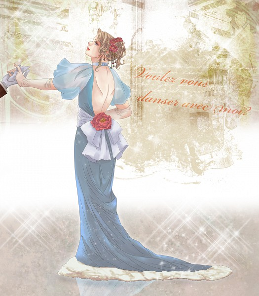 Tags: Anime, Axis Powers: Hetalia, France (Female), French Text, Nyotalia, Artist Request, Allied Forces