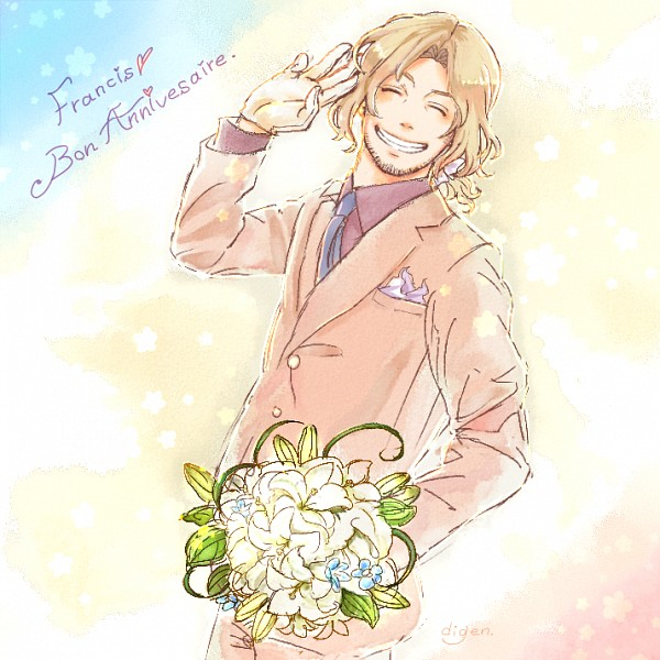 Tags: Anime, Pixiv Id 949947, Axis Powers: Hetalia, France, French Text, Pixiv, Fanart From Pixiv, Fanart, Allied Forces