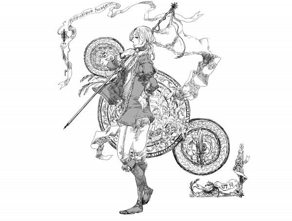 Tags: Anime, Azumi Nonko, Axis Powers: Hetalia, France, Fanart, Pixiv, Line Art