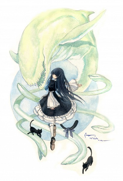 Tags: Anime, Nick-lan, Umineko no Naku Koro ni, Frederica Bernkastel, Traditional Media, Mobile Wallpaper