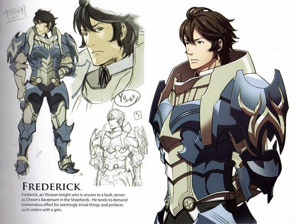 Tags: Anime, Kozaki Yuusuke, Fire Emblem: Awakening Artbook, Fire Emblem: Kakusei, Frederik (Fire Emblem), Official Art, Scan, Frederick (fire Emblem)