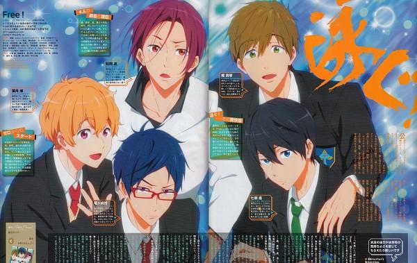 Tags: Anime, Kyoto Animation, Free!, Matsuoka Rin, Ryuugazaki Rei, Hazuki Nagisa, Nanase Haruka (Free!), Tachibana Makoto, Official Art