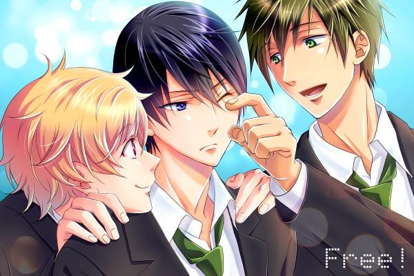 Tags: Anime, Pixiv Id 326148, Free!, Tachibana Makoto, Hazuki Nagisa, Nanase Haruka (Free!), Pixiv, Fanart, Fanart From Pixiv