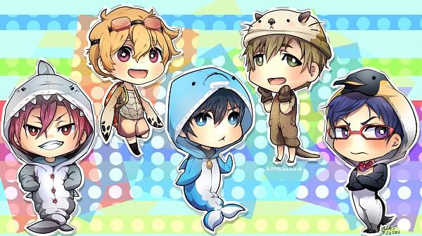 Tags: Anime, KittyCouch, Free!, Nanase Haruka (Free!), Tachibana Makoto, Matsuoka Rin, Ryuugazaki Rei, Hazuki Nagisa, Fish Costume, Cat Costume, Bird Costume, Wallpaper, Fanart