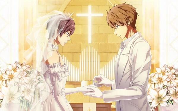 Tags: Anime, Pixiv Id 3202681, Free!, Nanase Haruka (Free!), Tachibana Makoto, Church, Fanart, Fanart From Pixiv, Pixiv, MakoHaru