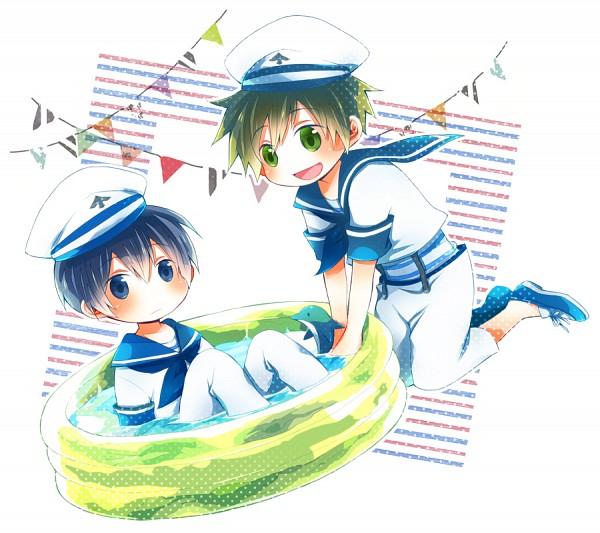 Tags: Anime, Pixiv Id 2783659, Free!, Nanase Haruka (Free!), Tachibana Makoto, Wading Pool, Pixiv, Fanart, Fanart From Pixiv