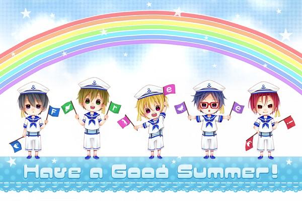 Tags: Anime, Pixiv Id 4192243, Free!, Matsuoka Rin, Ryuugazaki Rei, Hazuki Nagisa, Nanase Haruka (Free!), Tachibana Makoto, Dolphin, Pixiv