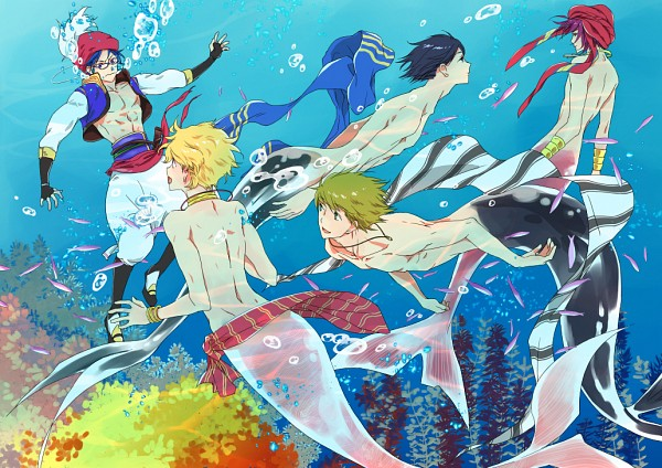 Tags: Anime, Pixiv Id 7119830, Free!, Matsuoka Rin, Ryuugazaki Rei, Hazuki Nagisa, Nanase Haruka (Free!), Tachibana Makoto