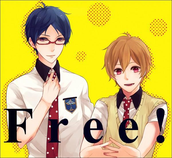 Tags: Anime, Pixiv Id 7205113, Free!, Hazuki Nagisa, Ryuugazaki Rei, Adjusting Tie, Pixiv