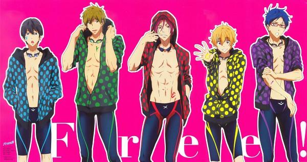Tags: Anime, Free!, Tachibana Makoto, Matsuoka Rin, Ryuugazaki Rei, Hazuki Nagisa, Nanase Haruka (Free!), Jammer, Legskin, Official Art, Facebook Cover