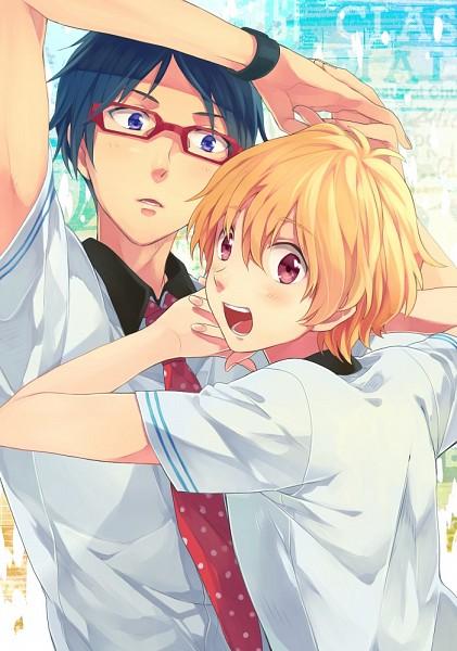 Tags: Anime, Shizu, Free!, Ryuugazaki Rei, Hazuki Nagisa, Mobile Wallpaper, ReiGisa