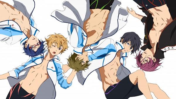 Tags: Anime, Kyoto Animation, Free!, Tachibana Makoto, Matsuoka Rin, Ryuugazaki Rei, Hazuki Nagisa, Nanase Haruka (Free!), Official Art, Wallpaper, Facebook Cover