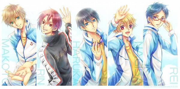 Tags: Anime, Hidaka Yin, Free!, Tachibana Makoto, Matsuoka Rin, Ryuugazaki Rei, Hazuki Nagisa, Nanase Haruka (Free!), Fanart From Pixiv, Pixiv, Fanart