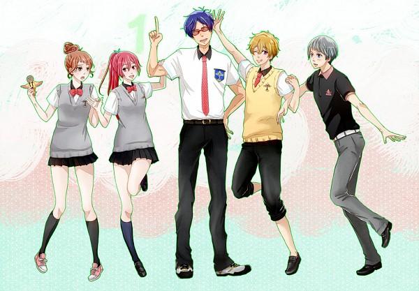 Tags: Anime, Pixiv Id 585013, Free!, Chigusa Hanamura, Nitori Aiichiro, Hazuki Nagisa, Matsuoka Gou, Ryuugazaki Rei, Fanart From Pixiv, Pixiv, Fanart