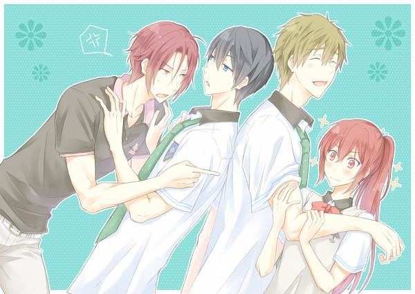 Tags: Anime, Pixiv Id 398036, Free!, Tachibana Makoto, Matsuoka Rin, Matsuoka Gou, Nanase Haruka (Free!), Pixiv
